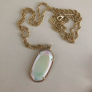 KENDRA SCOTT gold/white pearl Reid Necklace